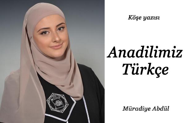 Anadilimiz Türkçe